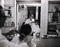 Barbero en el calvario