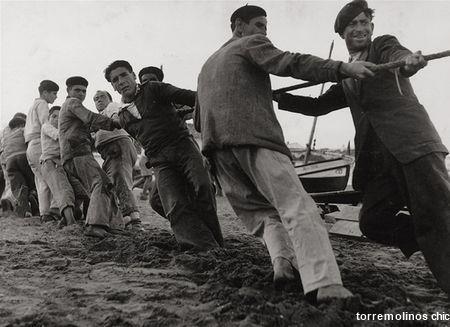 Pescadores en la carihuela